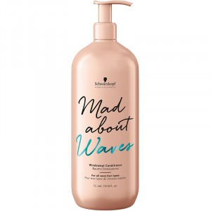 Schwarzkopf Baume ondulations Mad About Waves 1000ML, Après-shampoing avec rinçage