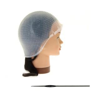 Bonnet à mèches en silicone avec crochet taille M
