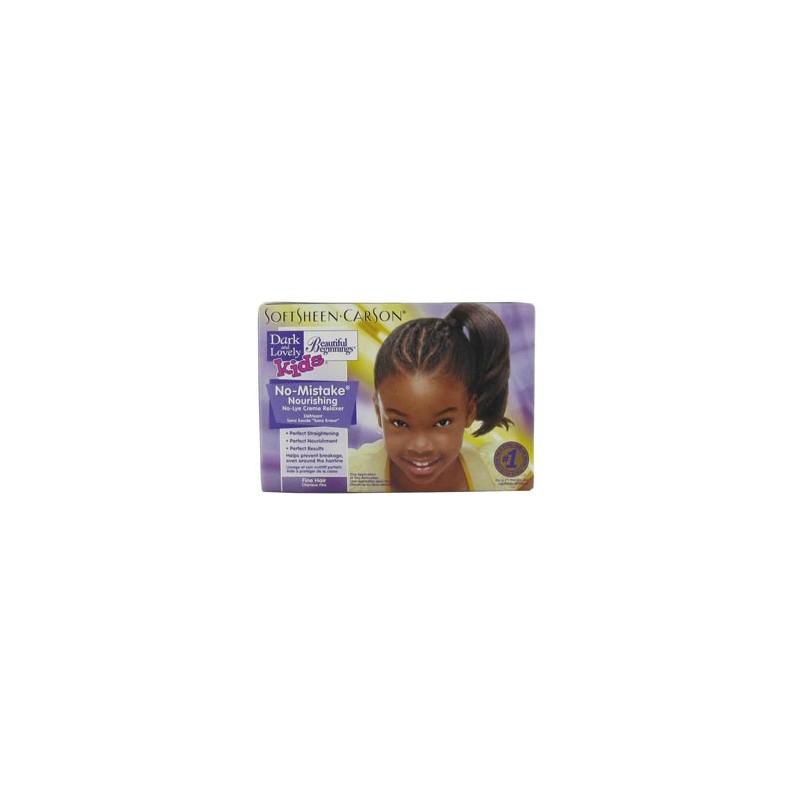 Soft Sheen.Carson Kit défrisage enfant cheveux fins Dark & Lovely 351ML, Kit défrisage