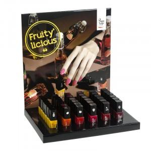Présentoir mini vernis à ongles  Fruity'licious Peggy sage 5 ml