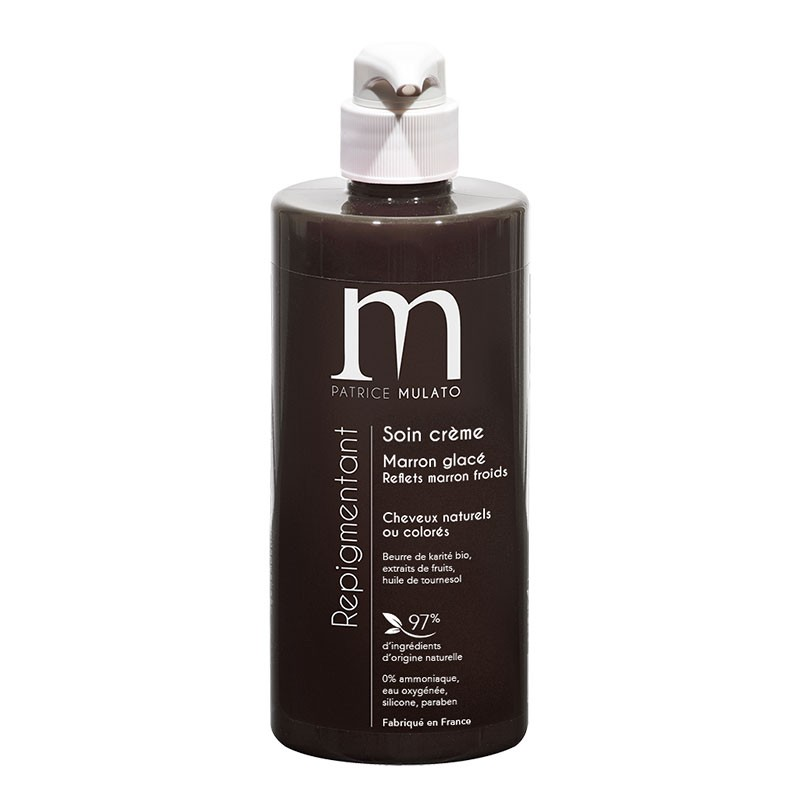 Mulato Soin repigmentant Marron glacé 500ML, Après-shampoing repigmentant