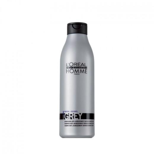 L'Oréal Professionnel Shampooing déjaunisseur Grey L'Oréal 250 ml 250ML, Shampoing