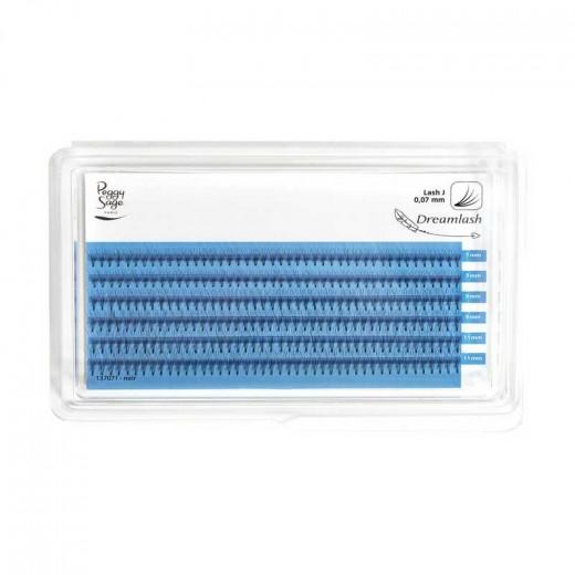 Peggy Sage Extension de cils de soie 4D  - courbe naturelle 007 x 7-9-11mm, Extensions de cils