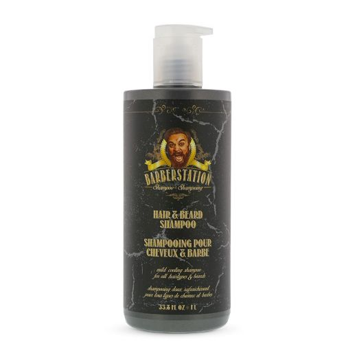 Barberstation Shampoing cheveux et barbe 1000ML, Shampoing