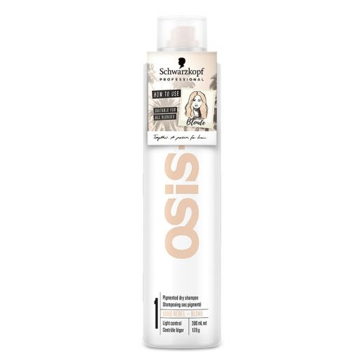Schwarzkopf Shampoing sec pigmenté Osis+ Boho rebel Blond  300ML, Shampoing sec