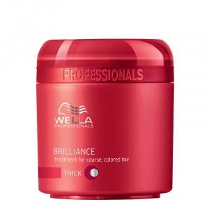 Wella Masque cheveux colorés épais Brilliance 150ML, Masque cheveux