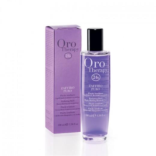 Oro Therapy Fluide irradiant cheveux décolorés Zaffiro Puro 100ML, Sérum