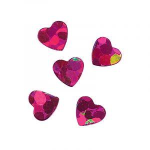 Paillettes pour ongles violet hearts