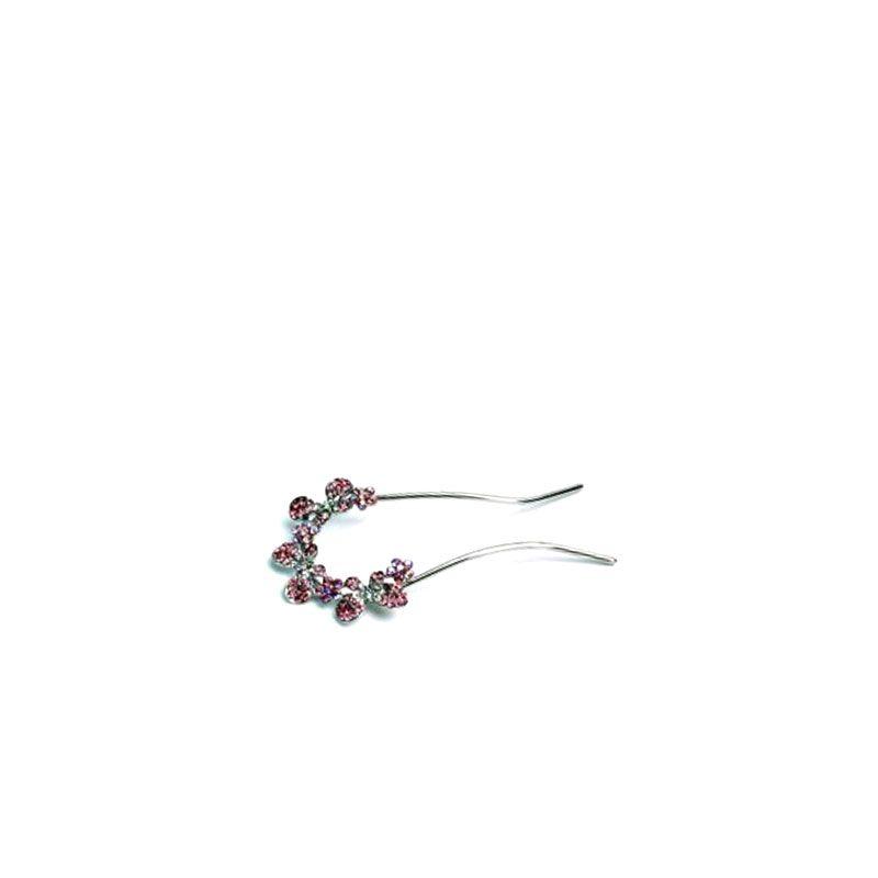 Queen Pam pique chignon strass rose, Accessoires chignon