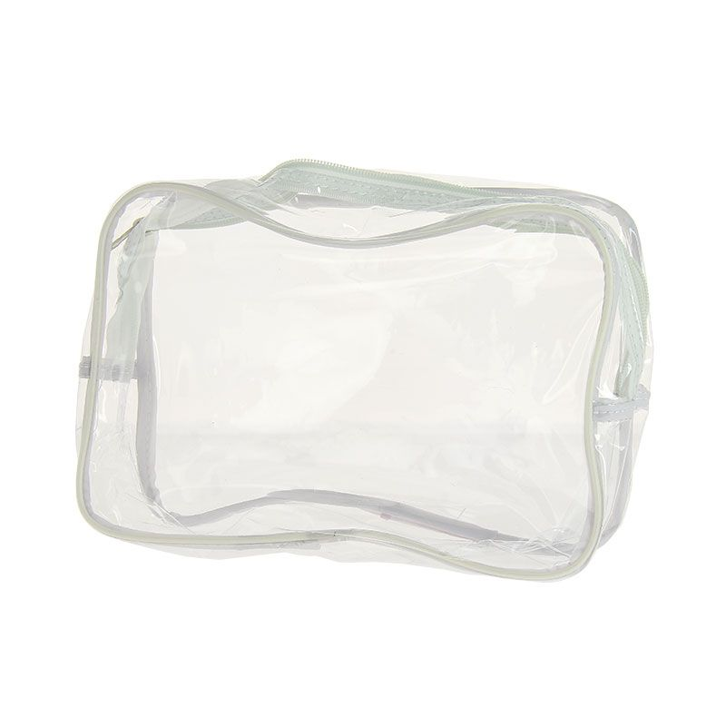 Sibel Trousse transparente PVC Blanc, Trousse maquillage