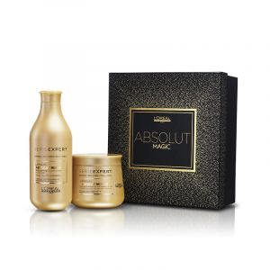 L'Oréal Professionnel Coffret Absolut Magic (1 shampooing & 1 masque Repair Lipidium) 550ML, Coffret