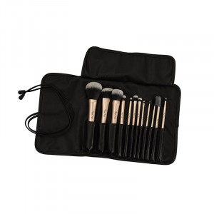 Set de 12 pinceaux maquillage - Rose gold