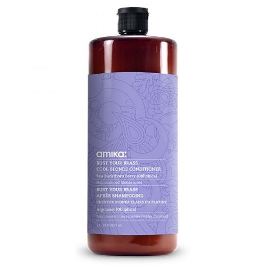 Après-shampooing déjaunisseur Bust your brass Amika 1000 ml
