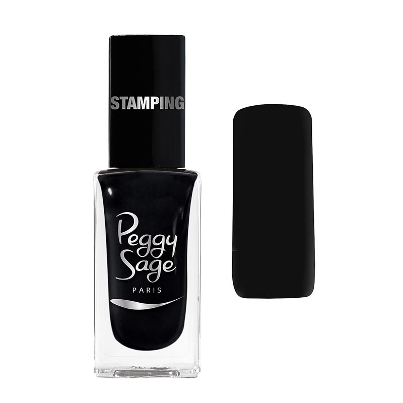 Peggy Sage Vernis à ongles Stamping Noir 11ML, Vernis à ongles couleur