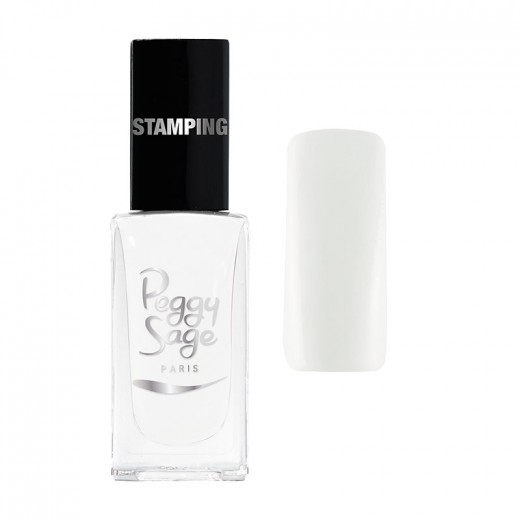 Peggy Sage Vernis à ongles Stamping Blanc 11ML, Vernis à ongles couleur