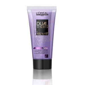 L'Oréal Professionnel Crème de lissage Sleek and swing Dual styler Tecni.art 150ML, Crème cheveux