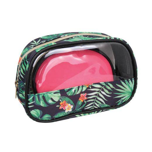 Parisax Set 2 trousses de beauté Jungle & Rose, Trousse maquillage