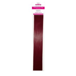 Coiffeo Lot de 3 bandeaux extensions à clip synthétiques - 4.65 Châtain rouge acajou, Extension cheveux