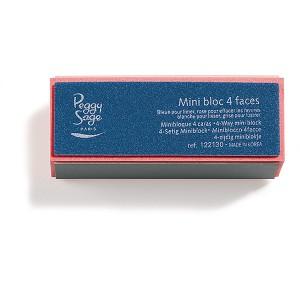 Peggy Sage Mini bloc 4 faces Multicolore, Lime à ongles