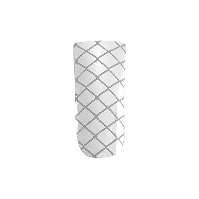 Peggy Sage Décors ongles nail foils silver criss cross, Sticker décoratif