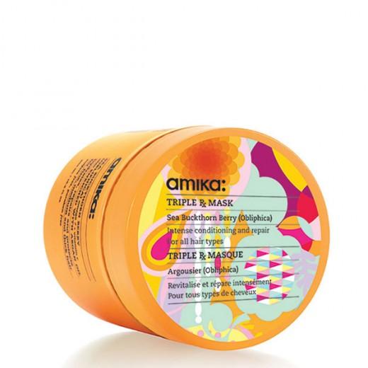 Amika Masque réparateur Triple RX Mask 500ML, Masque cheveux