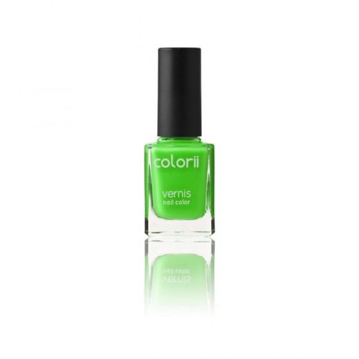 Colorii Vernis à ongles fluo Green 11ML, Vernis à ongles couleur