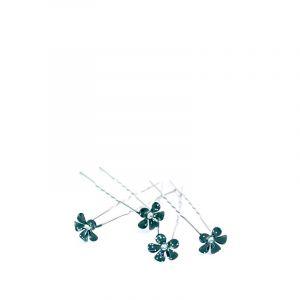 Queen Pam epingles fleur noire paillette (lot de 4 pieces), Ornement
