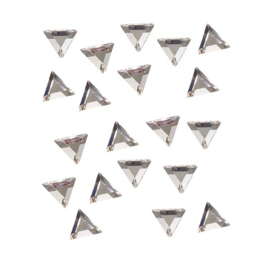 Strass pour ongles x20 Triangle argent 3mm