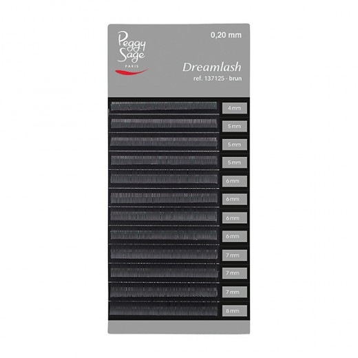 Peggy Sage Extensions de sourcils Dreamlash 0.20 x 4-5-6-7-8mm Brun, Extensions de cils