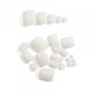 Peggy Sage Capsules pour orteils x24 Blanc, Capsules ongles