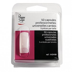 Peggy Sage Capsules professionnelles universelles x50 Carrée, Capsules ongles