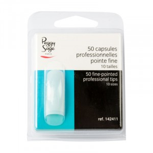 Peggy Sage Capsules professionnelles x50 Pointe fine, Capsules ongles