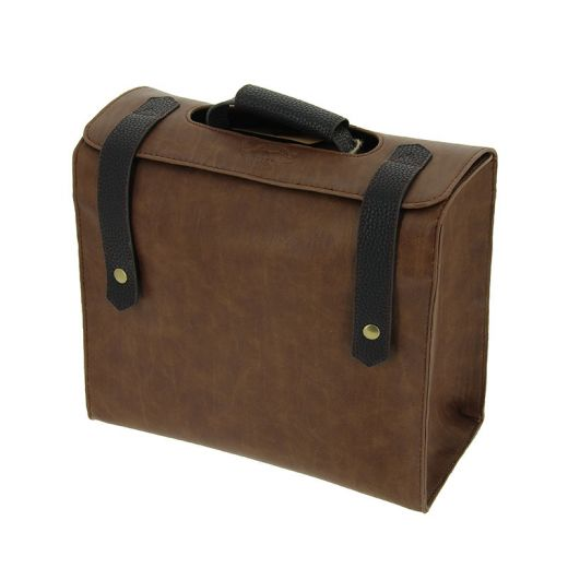 Mallette souple Barber Marron & Noir 28x25x11cm