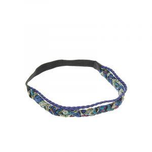 Headband tressé et froncé Bleu