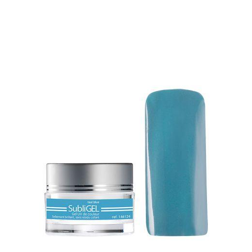 Gel UV de couleur Subligel Teal blue