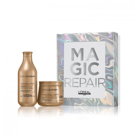 Coffret Noël Absolut Repair Gold (1 shampooing + 1 masque)