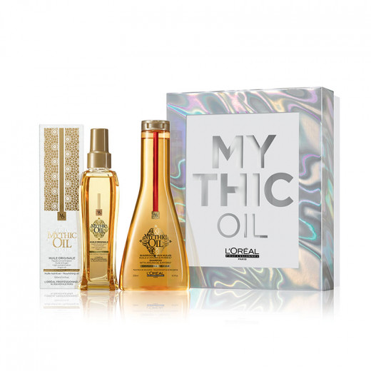 Coffret Noël Mythic Oil (1 shampooing + 1 huile)