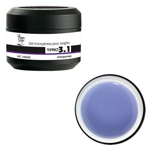 Peggy Sage Gel de construction 3 en 1 Pro 3.1 Transparent 15g, Gel construction