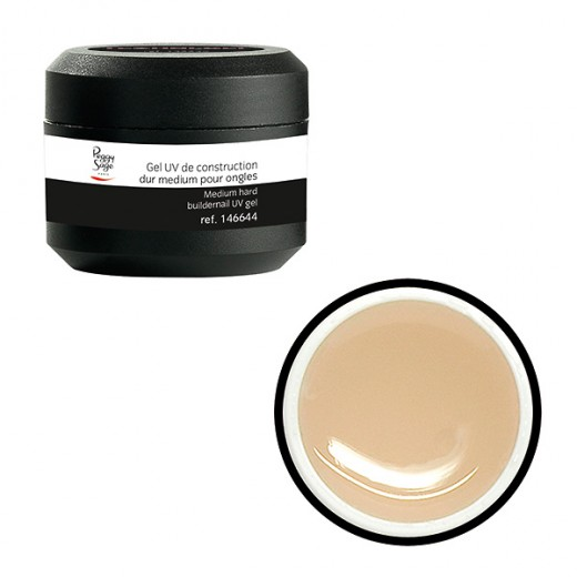 Peggy Sage Gel UV de construction dur medium pour ongles Transparent 15g, Gel construction