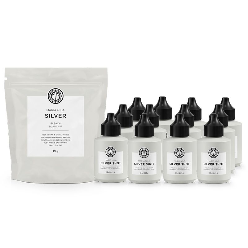 Recharge Silver Bleach & Silver Shot Set (450g + 12x60ml)