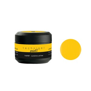 Peggy Sage Gel de couleur UV & LED Technigel Paint Sunshine yellow, Gel couleur