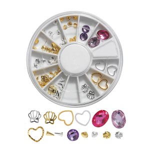 Peggy Sage Carrousel pour ongles Studs & jewels, Nail Art Strass