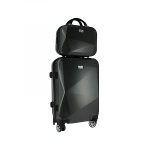 Set bagagerie valise trolley & vanity Anthracite graphique