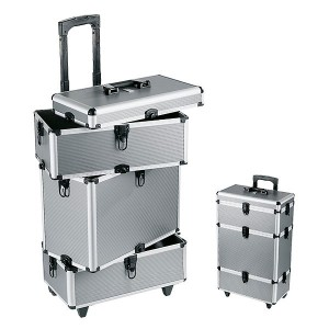 Valise professionnelle trolley Argent