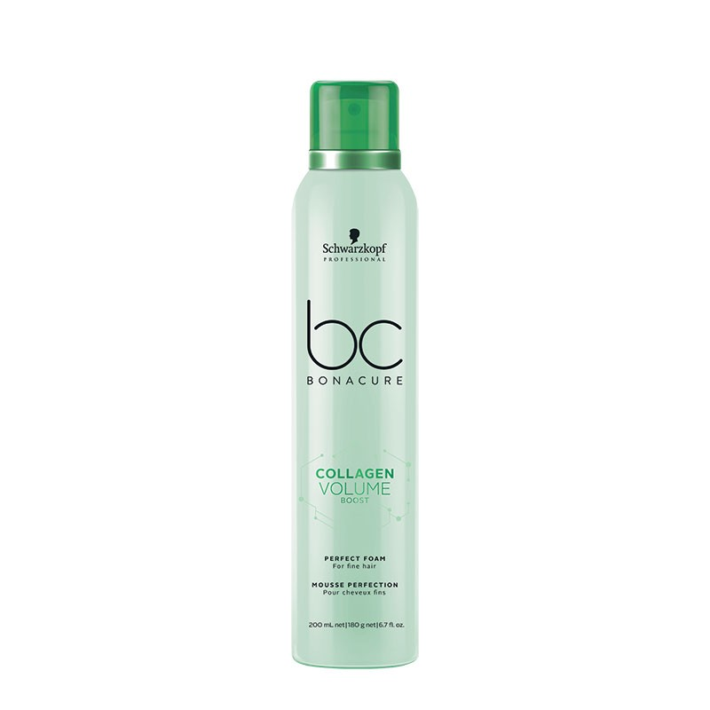 Schwarzkopf Mousse perfection cheveux fins Collagen Volume Boost 200ML, Soin cheveux