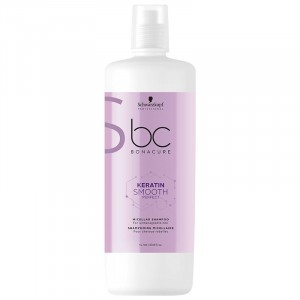 Schwarzkopf Shampooing micellaire cheveux rebelles Keratin Smooth Perfect 1000ML, Cosmétique