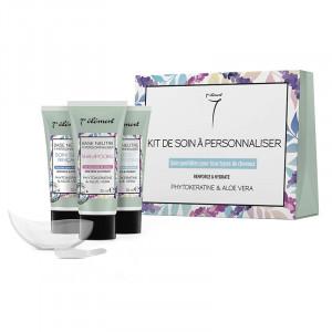 7eme élément Kit soin quotidien à personnaliser - Tous types de cheveux 3x30ml, Soin naturel