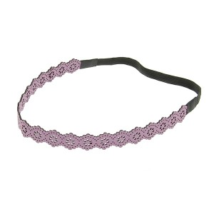 Queen Pam Headband cuir ajouré Violet, Head band