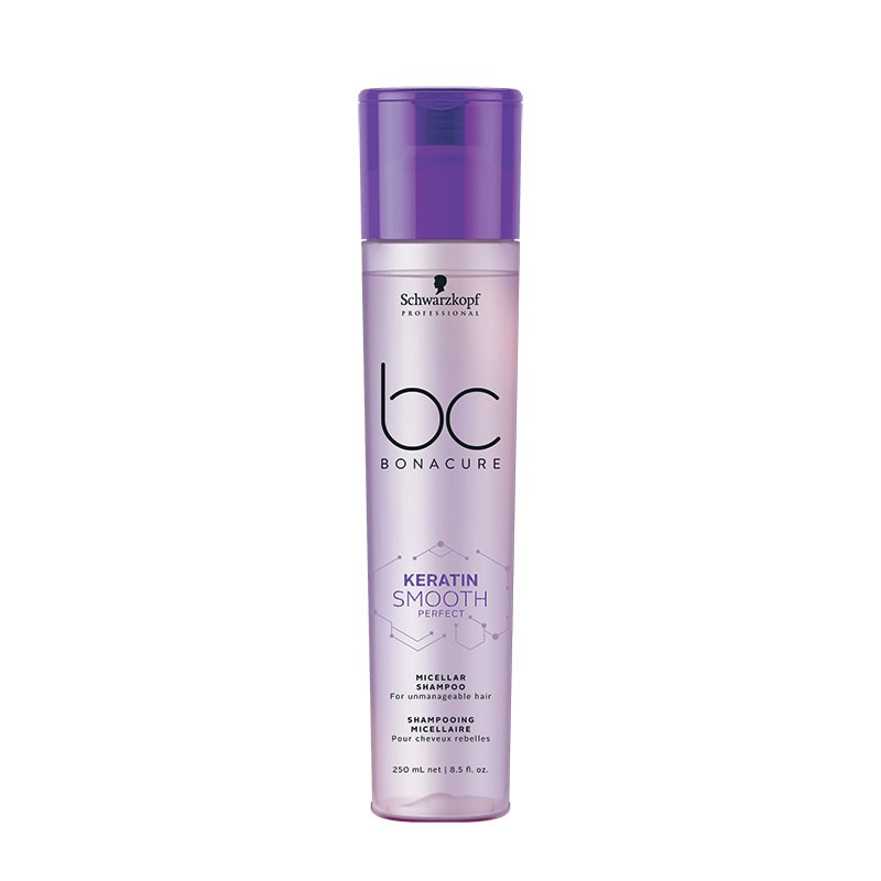 Schwarzkopf Shampooing micellaire cheveux rebelles Keratin Smooth Perfect 250ML, Cosmétique