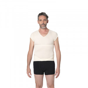 Percko Correcteur de posture Homme Lyne Up t-shirt seconde peau Nude, Correcteur de posture